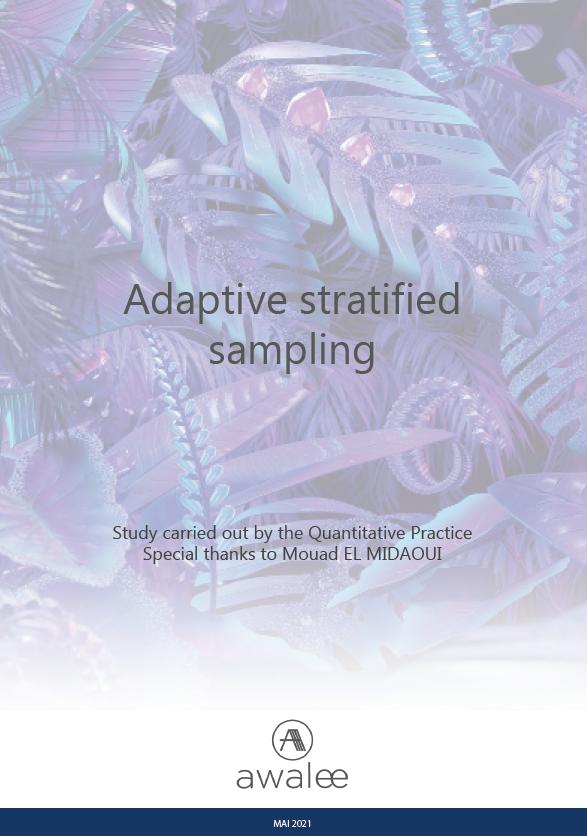 Adaptive Stratified Sampling